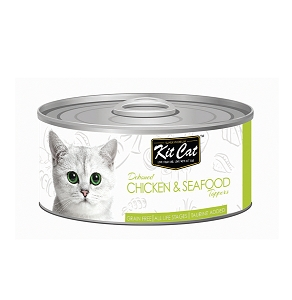 KitCat Deboned Chicken & Seafood Toppers 80g