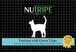 SALE - Nutripe Venison with Green Tripe cat + GLM