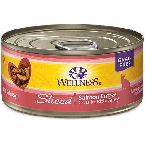 Wellness Canned Cat sliced Salmon