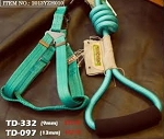 Touchdog Rope & Harness Set - Green