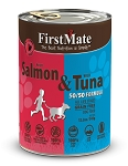 FirstMate Grain & Gluten Free, Wild Salmon & Wild Tuna Dog Canned