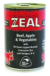 Zeal Dog Canned Food Beef, Apple & Vegetable