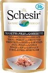 Schesir Cat Pouch Tuna With Chicken With Shrimps 50g