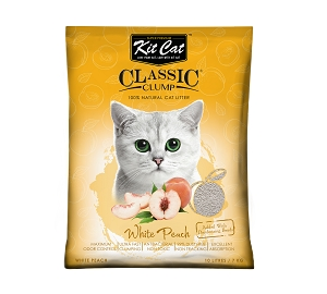 KitCat White Peach Clumping Cat Litter