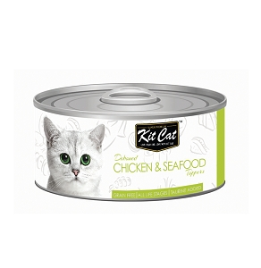 KitCat Deboned Chicken & Salmon Toppers 80g