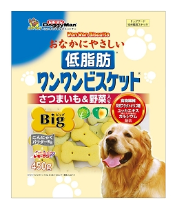 DoggyMan Low Fat Biscuit Big Vegetables