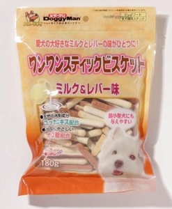 DoggyMan Bowwow Stick Biscuits with Milk & Chicken Liver