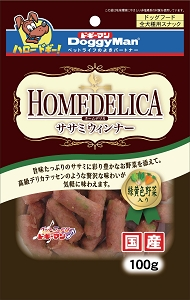 DoggyMan Homedelica Sasami Wener with Green and Yellow Vegetable