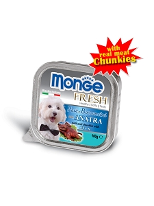 SALE - Monge Wet food 100g (TRAY) Duck Expiry Oct 2017