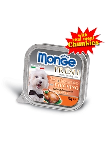 SALE - Monge Wet food 100g (TRAY) Turkey Expiry Dec 2017