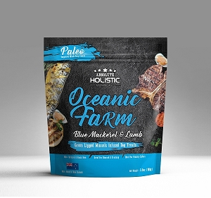 Absolute Holistic Air Dried Treat Oceanic Farm (Blue Mackerel & Lamb)