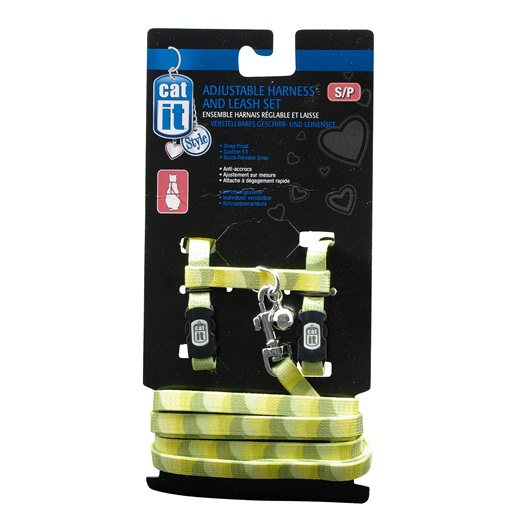 Catit Adjust Harness & Leash Small - Jungle Stripe