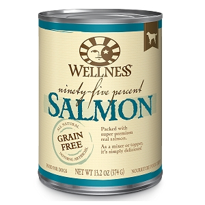 Wellness 95% Salmon, Canned Dog Food