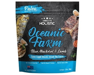 Absolute Holistic Air Dried Oceanic Farm Blue Mackerel & Lamb Dog Treat