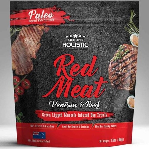 Absolute Holistic Air Dried Venison & Beef Red Meat Dog Treats