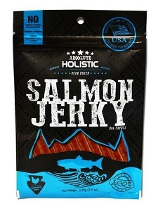 Absolute Holistic Grain-Free Salmon Loin Strip Dog Treat