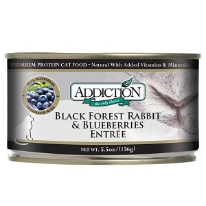 Addiction Canned Black Forest Rabbit & Blueberries Entree Cat Food
