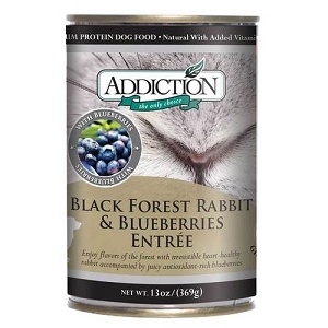 Addiction Canned Black Forest Rabbit & Blueberries Entree Dog Food
