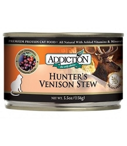 Addiction Canned Grain Free Hunter's Venison Stew Cat Food