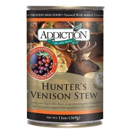 Addiction Canned Grain Free Hunter's Venison Stew Dog Food