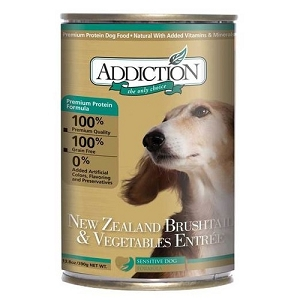 Addiction Canned Grain Free NZ Brushtail & Vegetables Entree Dog Food