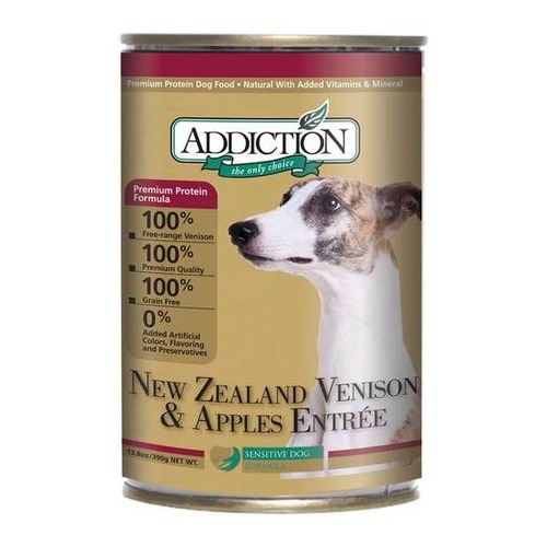 Addiction Canned Grain Free NZ Venison & Apples Entree Dog Food