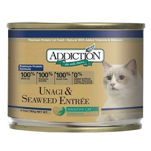 Addiction Canned Grain Free Unagi & Seaweed Entree Cat Food