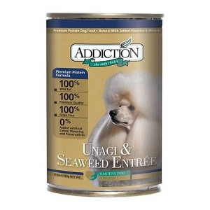 Addiction Canned Grain Free Unagi & Seaweed Entree Dog Food