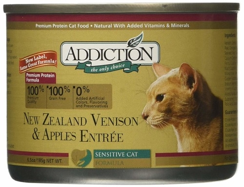 Addiction Canned Grain Free Venison & Apples Entree Cat Food