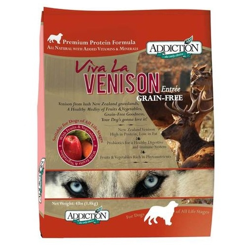 Addiction Grain Free Viva La Venison Dry Dog Food