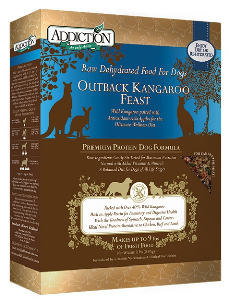 Addiction Raw Dehydrated Dog Food, Outback Kangaroo Feast - Grain Free