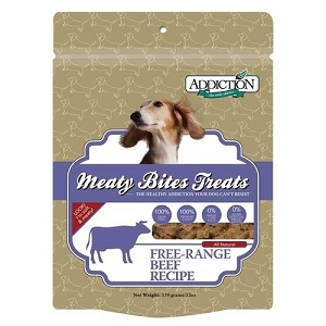 Addiction Meaty Bites Grain Free Beef Dog Treats