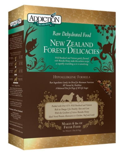 Addiction Raw Dehydrated Dog New Zealand Forest Delicacies