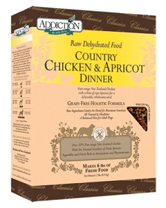 Addiction Raw Dehydrated Grain Free Country Chicken & Apricot Dinner