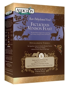 Addiction Raw Dehydrated Grain Free Fig'licious Venison Feast