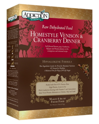 Addiction Raw Dehydrated Homestyle Vension & Cranberry Dinner
