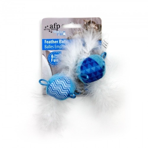 AFP Modern Cat Feather Balls with Sound Toy