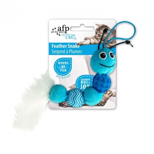 AFP Modern Cat Feather Snake Toy