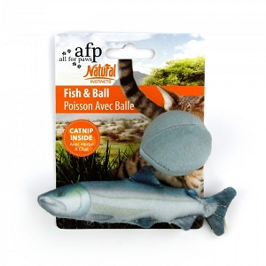 AFP Natural Instincts Fish & Ball Toy
