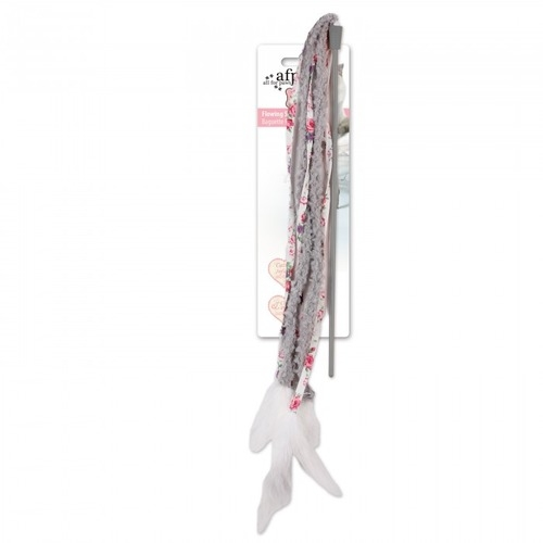 AFP Shabby Chic Cat Flowing Streamer Wand Toy
