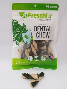 Afreschi Twisted Dental Chew - Turkey & Calcium 24pcs