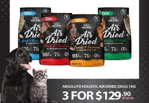 [SALE] Absolute Holistic Air Dried 1kg Buy 3 at $129.90