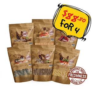 GSS PROMO - Absolute Bites Fresh & Freezed Dried Treat 4 FOR $88 ONLY!