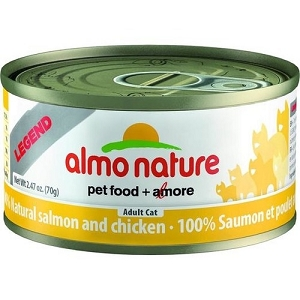 Almo Nature Canned HFC Natural Salmon & Chicken Cat Food