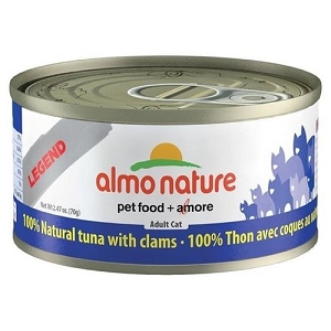 Almo Nature Canned HFC Natural Tuna With Clams Cat Food