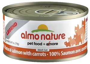 Almo Nature Canned HFC Salmon with Carrot Cat Food