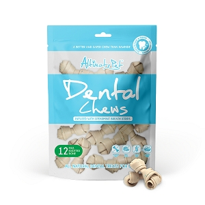 Altimate Pet Dental Chews Milk Knotted Bone 12pcs