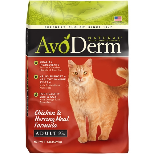 AvoDerm Natural Adult Chicken & Herring Meal Formula Dry Cat Food