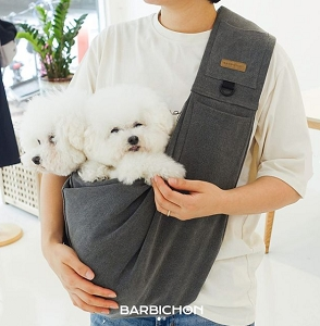 Barbichon Charcoal Sling Bag