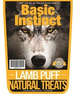 Basic Instinct Lamb Puff Natural Dog Treats